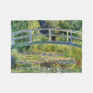 The Water-Lily Pond by Monet Fine Art Fleece Blanket
