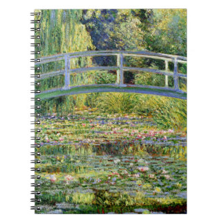 The Water-Lily Pond by Monet Fine Art Spiral Note Book