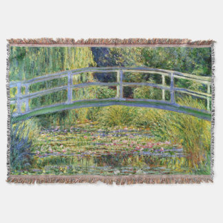 The Water-Lily Pond by Monet Fine Art Throw Blanket