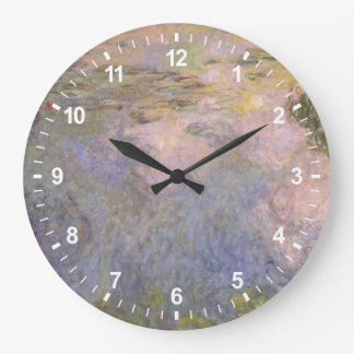 The Water-Lily Pond Large Clock