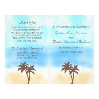 The Watercolor Beach Wedding Collection 21.5 Cm X 28 Cm Flyer
