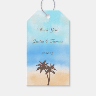 The Watercolor Beach Wedding Collection Gift Tags
