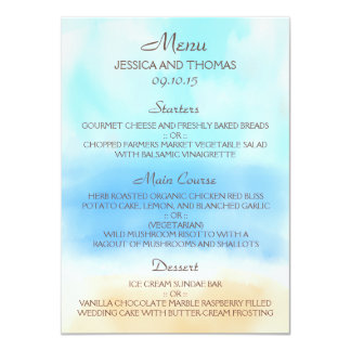 The Watercolor Beach Wedding Collection 11 Cm X 16 Cm Invitation Card