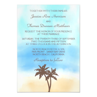 The Watercolor Beach Wedding Collection Magnetic Invitations