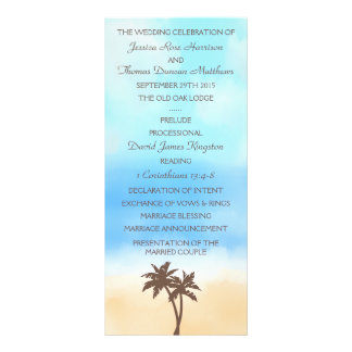 The Watercolor Beach Wedding Collection Personalised Rack Card