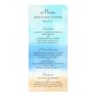 The Watercolor Beach Wedding Collection Rack Card