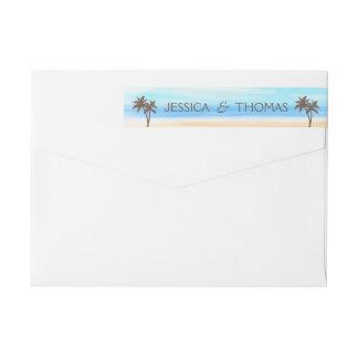 The Watercolor Beach Wedding Collection Wraparound Return Address Label