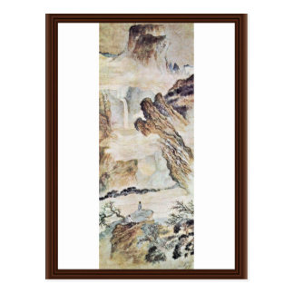 The Waterfall On Mount Lu By Tao Chi (Best Quality Postcard