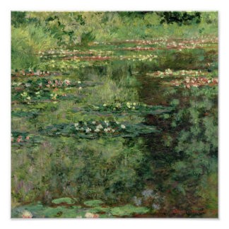 The Waterlily Pond, 1904 Poster