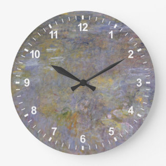 The WaterLily Pond Large Clock