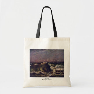 The Wave By Courbet Gustave Tote Bags