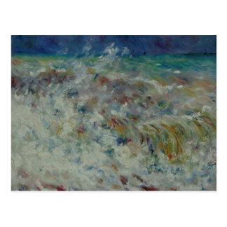 The Wave by Pierre-Auguste Renoir Postcard