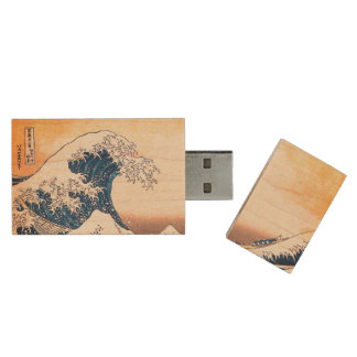 The Wave Wood USB Flash Drive