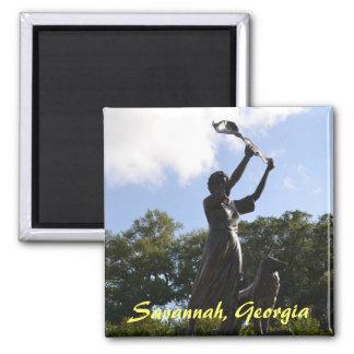 The Waving Girl,Savannah, Georgia Magnet