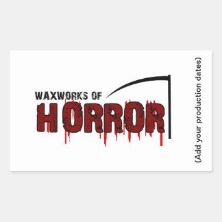 The Waxworks of Horror Rectangular Sticker