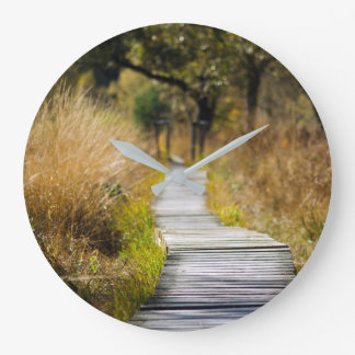 The Way Forward Wood Nature Path Large Clock