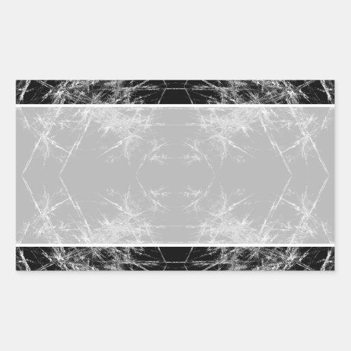 The Way In. Fractal Art. Monochrome Rectangle Sticker