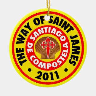 The Way of Saint James 2011 Round Ceramic Decoration