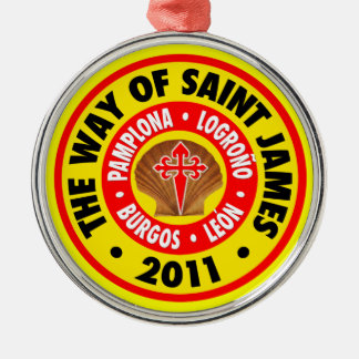 The Way of Saint James 2011 Silver-Colored Round Decoration