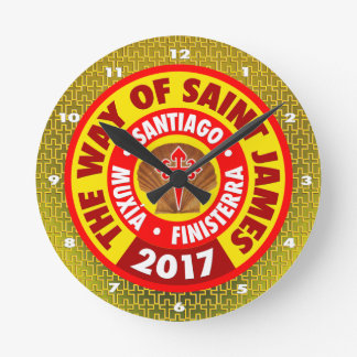 The Way of Saint James 2017 Round Clock