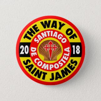The Way of Saint James 2018 6 Cm Round Badge