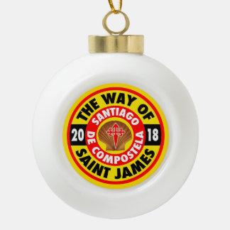 The Way of Saint James 2018 Ceramic Ball Christmas Ornament