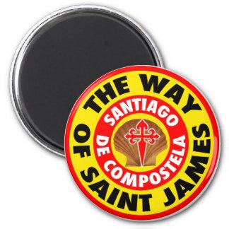 The Way of Saint James 6 Cm Round Magnet
