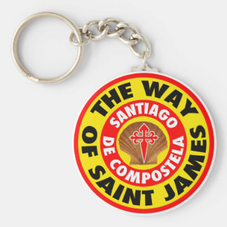 The Way of Saint James Basic Round Button Key Ring