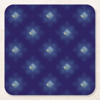 The way out square paper coaster