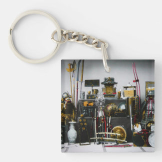 The Weapons and Armor of the Ancient Samurai Japan Single-Sided Square Acrylic Key Ring