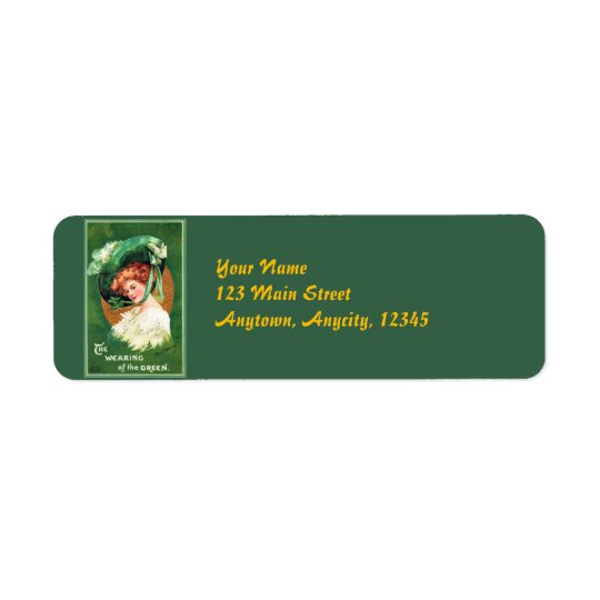 The Wearing Of The Green Address Labels