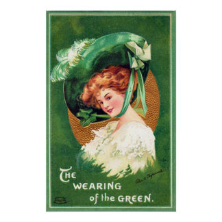 The Wearing Of The Green Vintage Poster