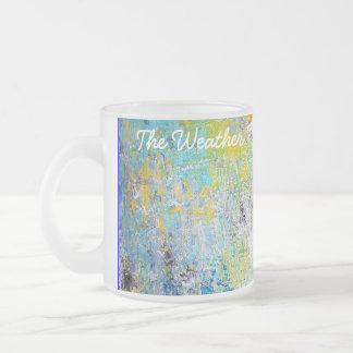 The Weather Map. Frosted Glass Mug