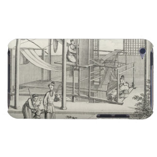 `The Weaving of Flower'd Silks', Two Women at Work iPod Touch Cover