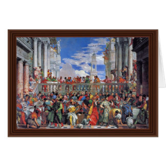 The Wedding At Cana., Wedding At Cana, Card
