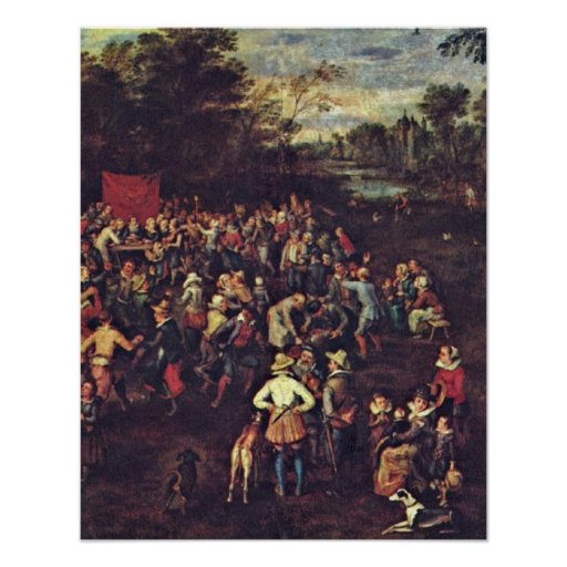 The Wedding Banquet by Jan Brueghel the Elder Print