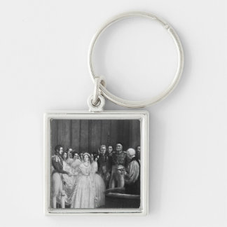 The wedding ceremony keychains
