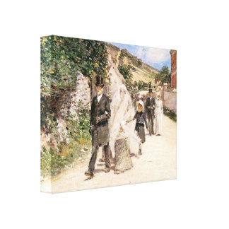 The Wedding March by Robinson, Vintage Newlyweds Canvas Print
