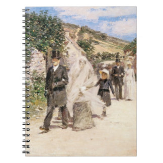 The Wedding March by Robinson, Vintage Newlyweds Spiral Note Book