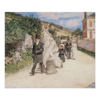 The Wedding March by Theodore Robinson, Newlyweds Print