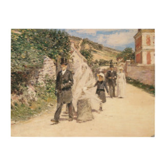 The Wedding March by Theodore Robinson, Newlyweds Wood Canvases