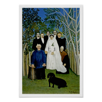 The Wedding Party by Henri Rousseau Poster