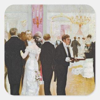 The Wedding Reception, c.1900 Square Sticker