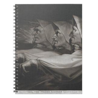 The Weird Sisters (Shakespeare, MacBeth) Spiral Notebook
