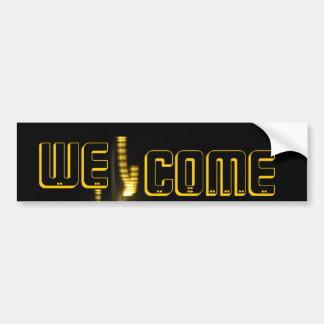 The Welcome Bumper Sticker