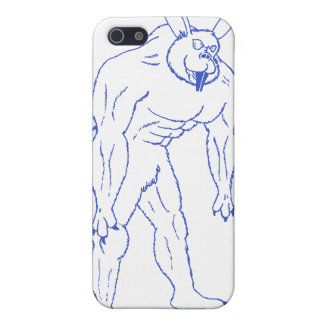 The Wererabbit (lined in blue or gold) Case For iPhone 5