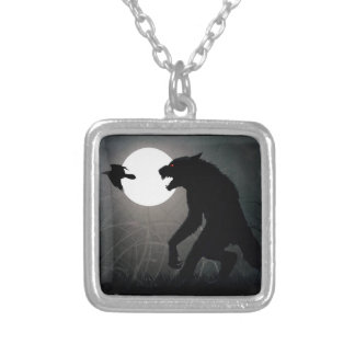 The werewolves are here silver plated necklace