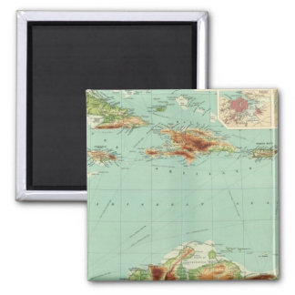 The West Indies 2 Square Magnet