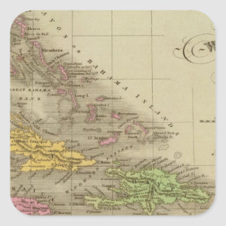 The West Indies Square Stickers
