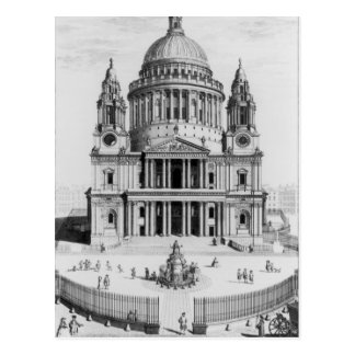 The West Prospect of St. Paul's Cathedral Postcard